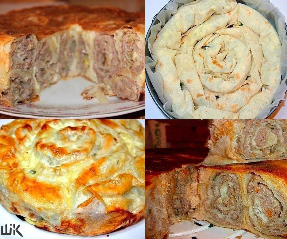 Мясной пирог в лаваше рецепт пошагово